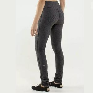 Lululemon Skinny Will Pant 6 Pique Full Luon Black